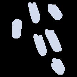 Silhueta de vários passos de neve