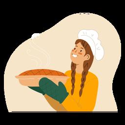 Mujer con carácter de tarta cocida