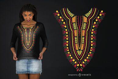 Diseño de camiseta con motivo Dashiki