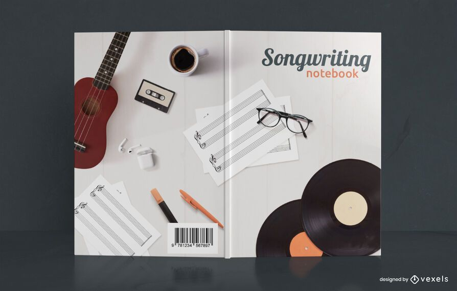 Songwriting Notebook Music Book Cover Design
