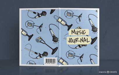 Design da capa do livro Doodle Music Journal