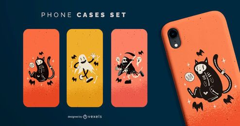 Halloween vintage phone cases set