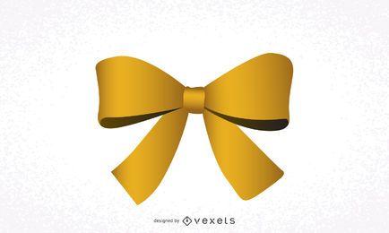 Lazo de cinta amarilla