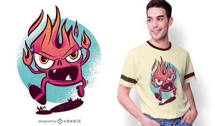 Design de t-shirt da chama furiosa