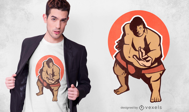 Sumo Wrestler T-shirt Design