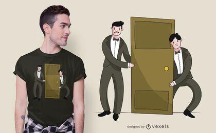 Diseño de camiseta Butler Door
