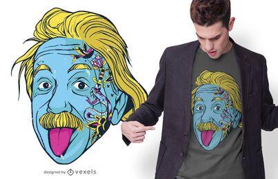 Diseño de camiseta de tatuaje de Albert Einstein