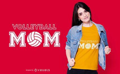 Diseño de camiseta de mamá de voleibol