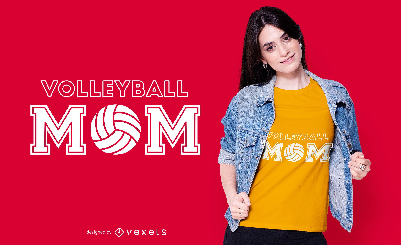 Design de t-shirt para mães de voleibol