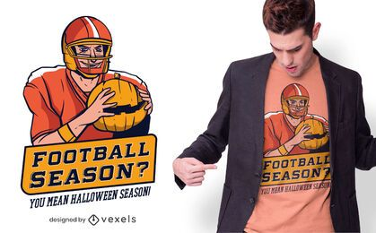 Halloween football t-shirt design