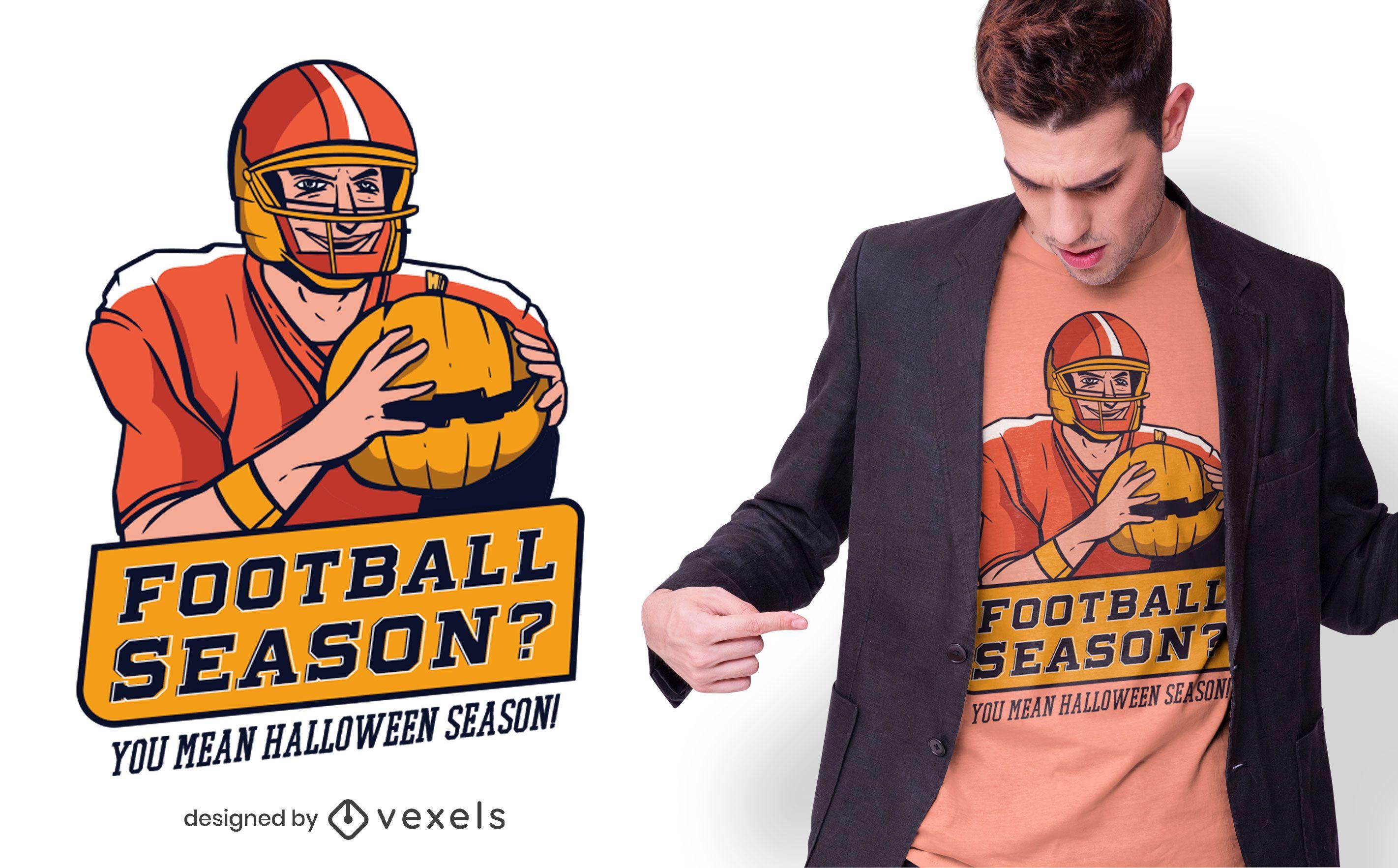 Halloween football t-shirt design
