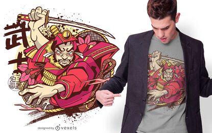 Japanese Warrior T-shirt Design