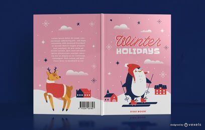Cute winter book cover design