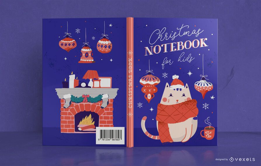 Christmas kids book cover design