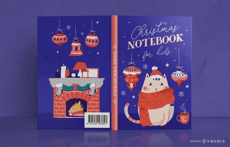 Design de capa de livro infantil de natal