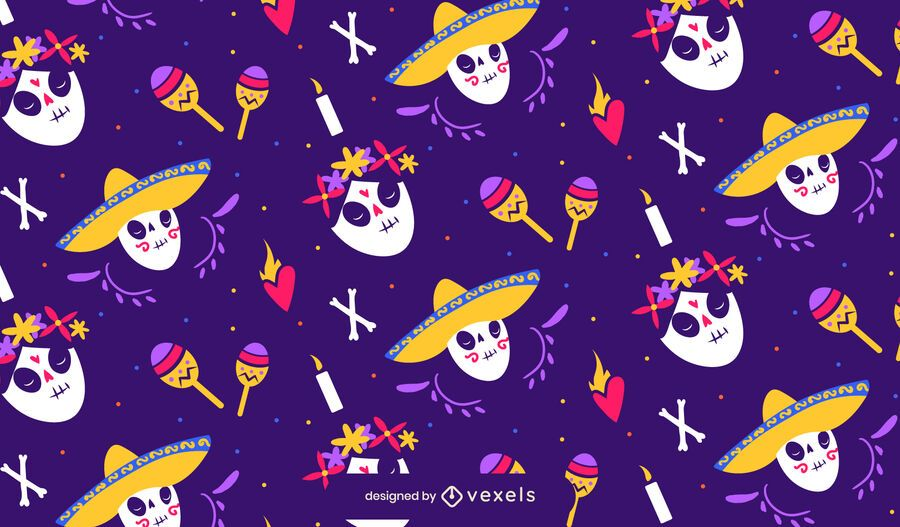 Day of the dead pattern design