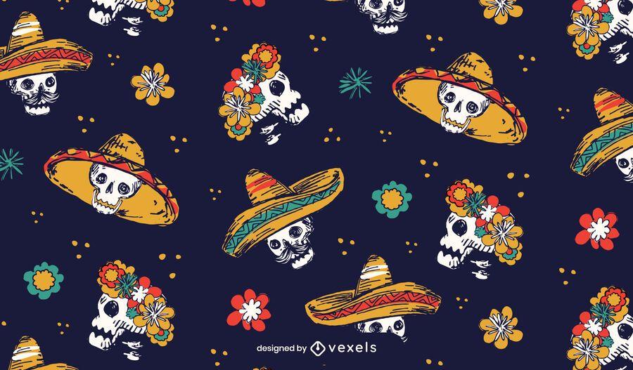 Dia de los muertos pattern design