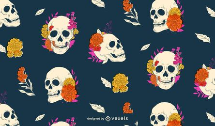 Day of the dead skull pattern design