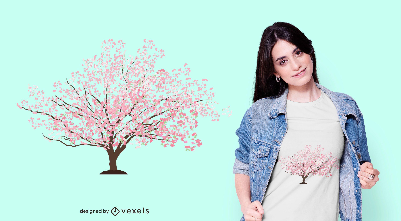 Sakura Tree T-shirt Design