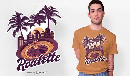 Design de camiseta da Casino Roulette