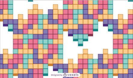 Diseño de patrón de juego de combinación de azulejos