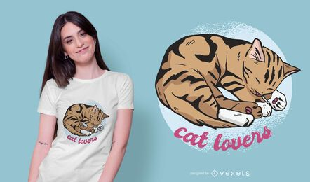 Diseño de camiseta Cat Nap Quote