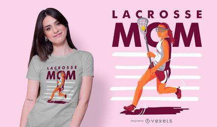Design de camiseta lacrosse para mamãe