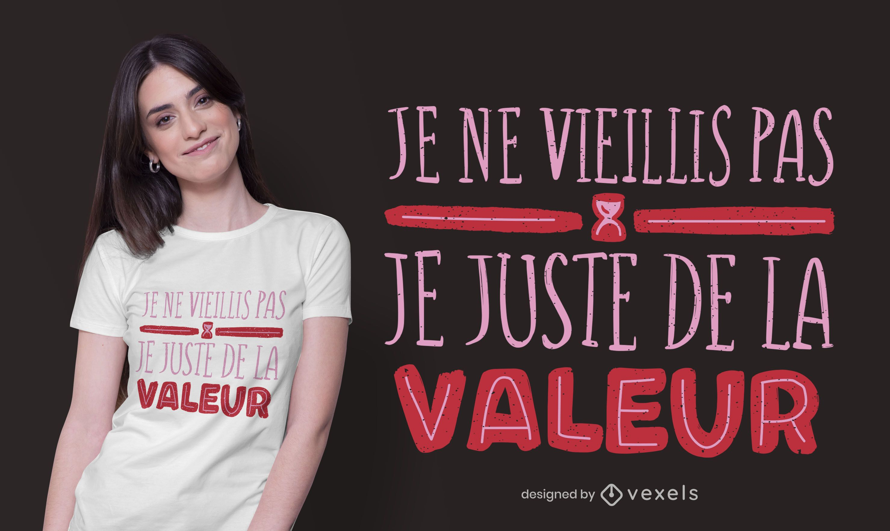 Funny Aging French Quote T-shirt Design