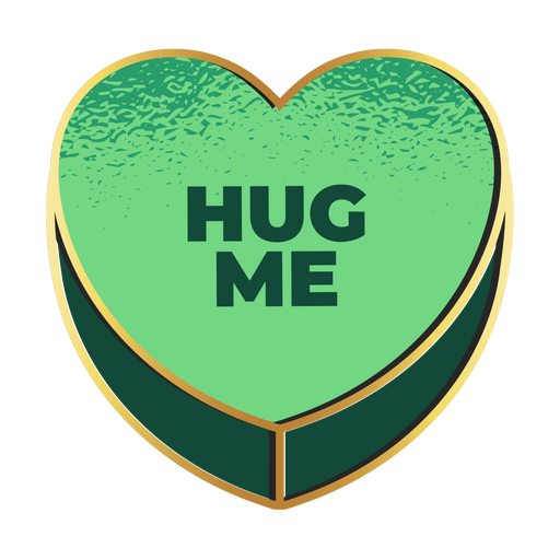 Hug me heart valentines candy heart Transparent PNG