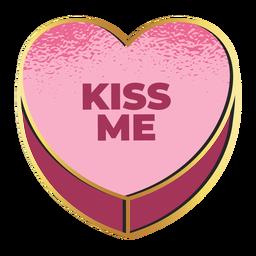 Beije-me dia dos namorados coração dia dos namorados