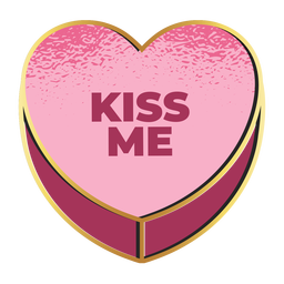 Kiss me valentines heart valentines