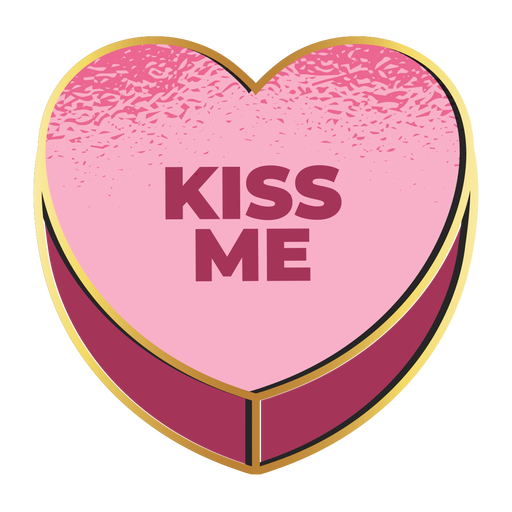 Kiss me valentines heart valentines Transparent PNG