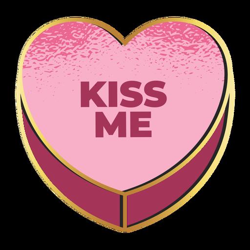 Kiss me valentines heart valentines