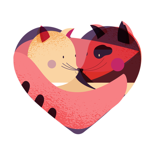 Valentines animal couple valentines Transparent PNG