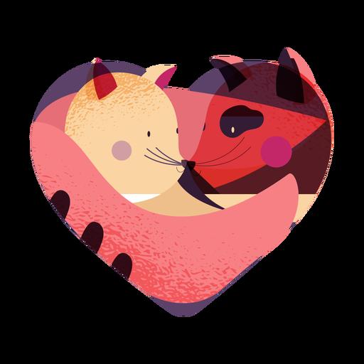 Valentines animal couple valentines