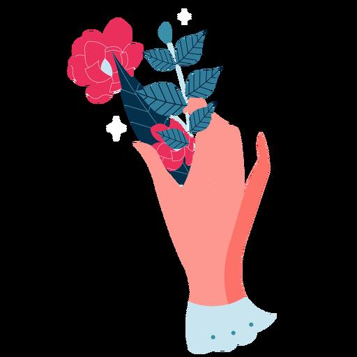 Valentines hand leaves rose valentines