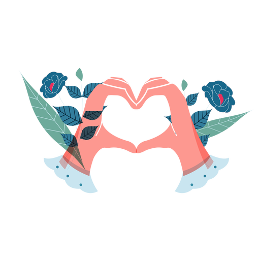 Valentines heart hands cute valentines Transparent PNG