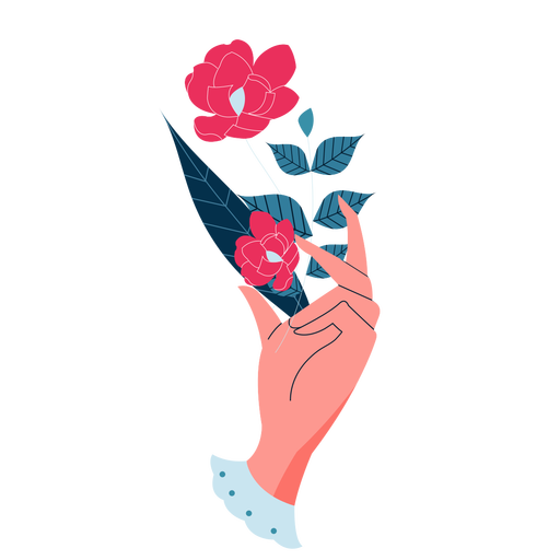 Valentines holding plant hand