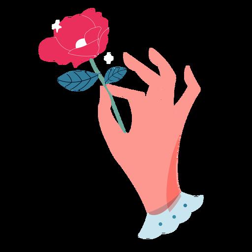 Valentines holding rose hand Transparent PNG