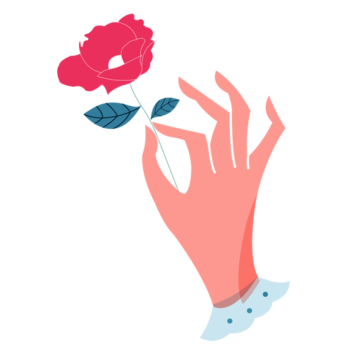 Valentines holding rose hand