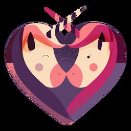 San Valentín unicornio corazón unicornio