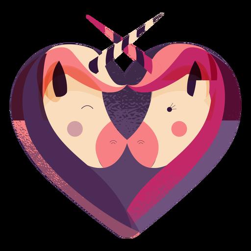 Dia dos namorados unicórnio coração unicórnio