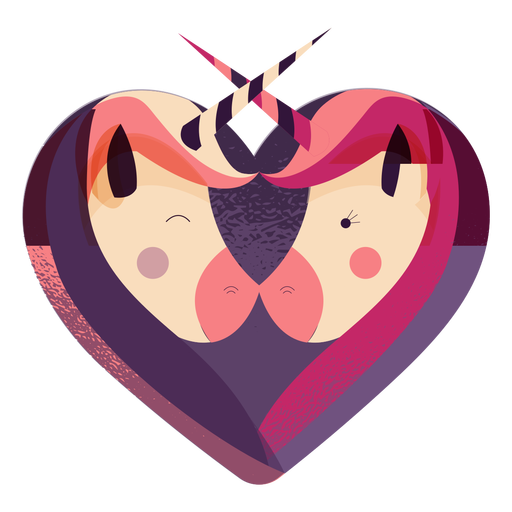Valentines unicorn heart unicorn Transparent PNG