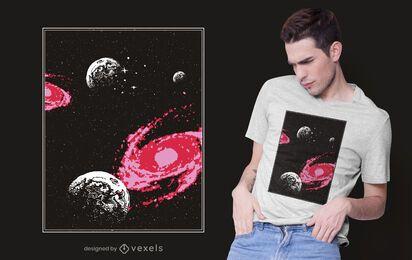Design de camisetas do Cosmos Space
