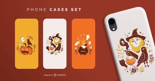 Conjunto de cajas de teléfono de Halloween