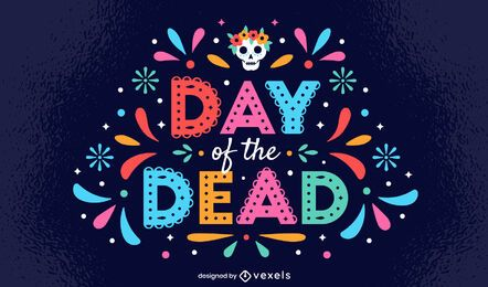 Day of the Dead Papel Picado Lettering