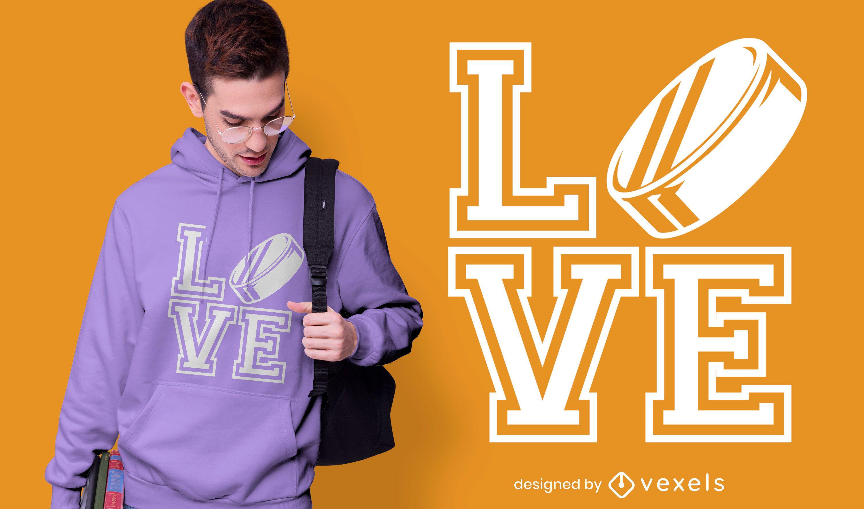 Love hockey t-shirt design