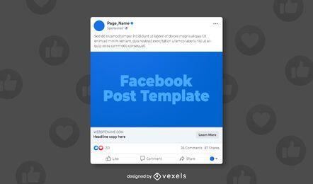 Plantilla de redes sociales de publicación de Facebook