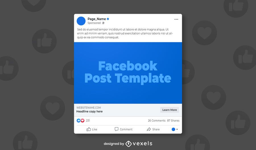 Facebook post social media template
