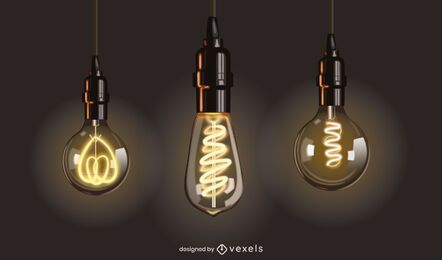 Incandescent Light Bulb Design Set